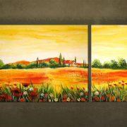Olieverf schilderij Landschappen 2 delig 2920FA