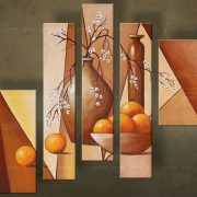 Olieverf schilderij Vazen 5 delig 0 5435FA