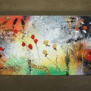 Olieverf schilderij Bloemen 1 delig 5506FA