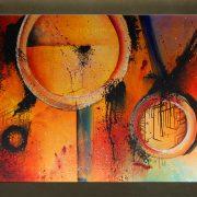 Olieverf schilderij Abstract 1 delig 5816FA