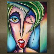 Olieverf schilderij Vrouwen 1 delig 5919FA