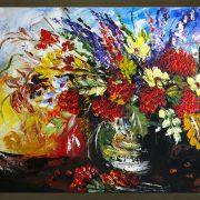 Olieverf schilderij Bloemen 1 delig 6001FA